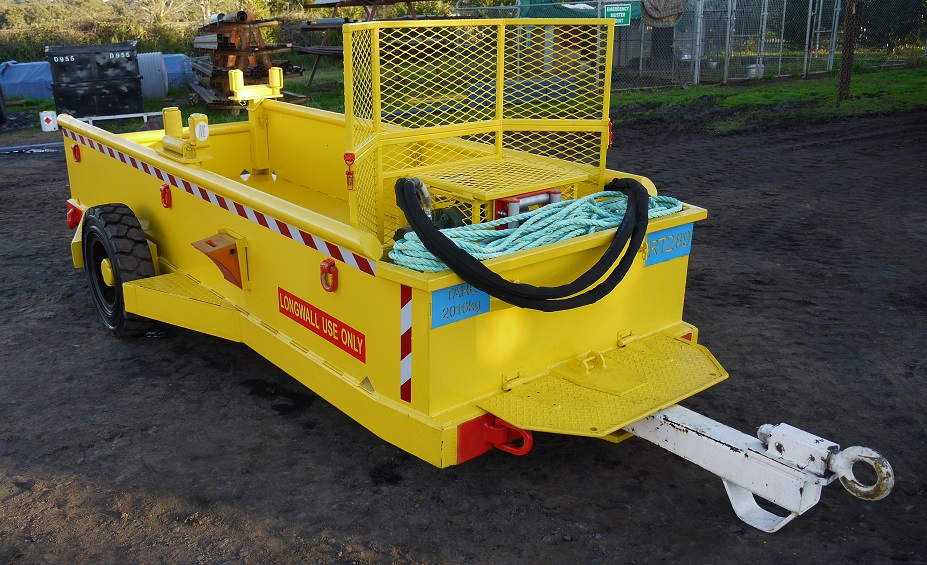 Shearer cable trailer for longwall use